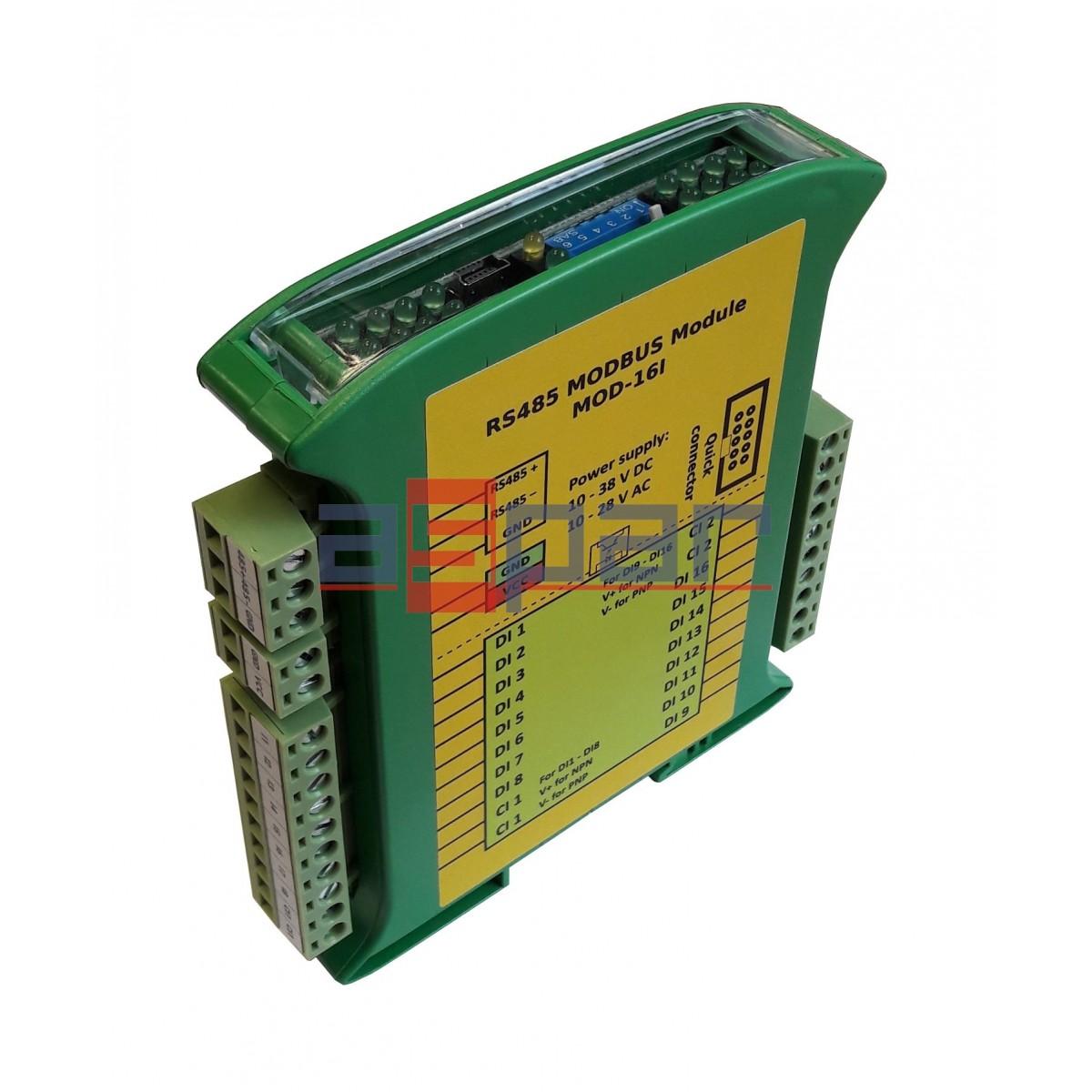 16 digital inputs, MOD-16I