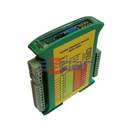 8 digital inputs, 8 PNP outputs MOD-8I8O
