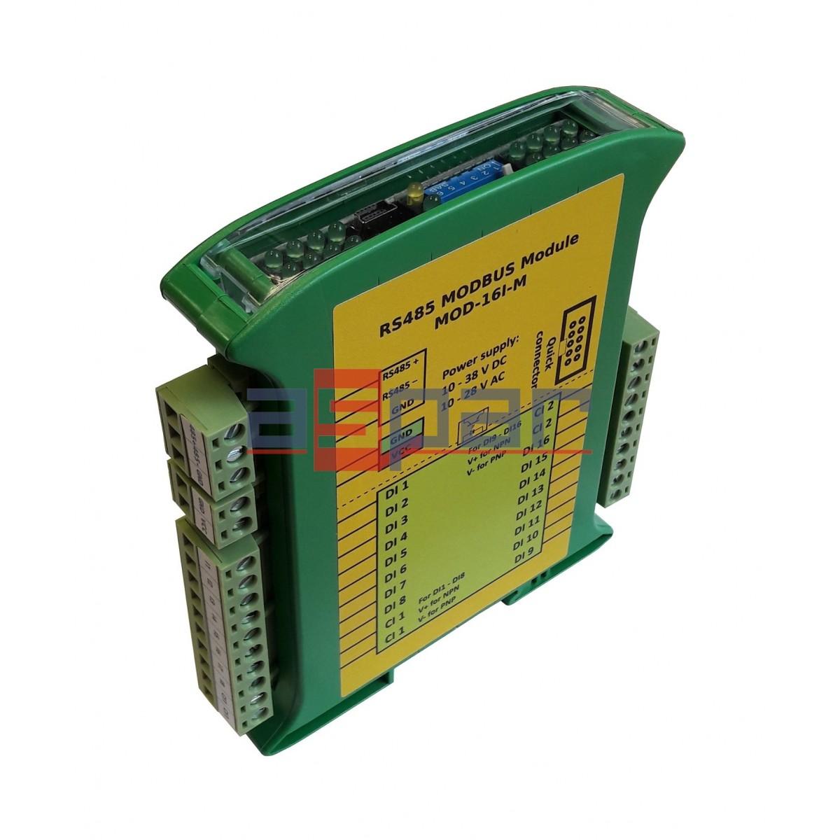 16 digital inputs with memory, MOD-16I-M