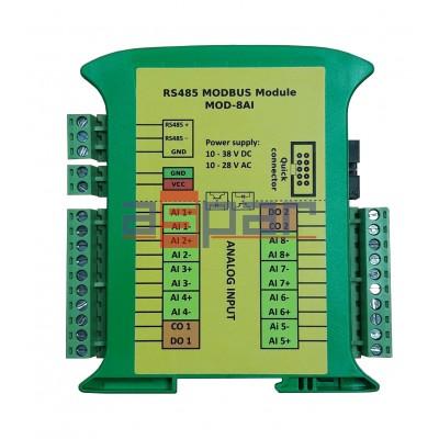 8 analog universal inputs  MOD-8AI