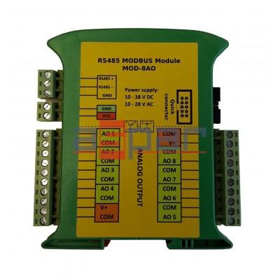 8 analog universal outputs  MOD-8AO