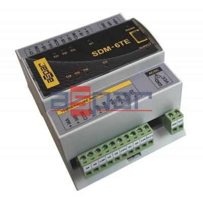 6 inputs for the temperature measurment, SDM-6TE