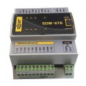 6 inputs for the temperature measurment, SDM-6TE