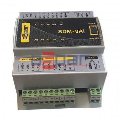 8 analog universal inputs  SDM-8AI