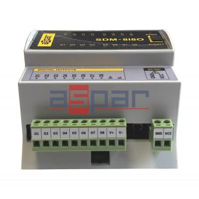 8 digital inputs, 8 PNP outputs  SDM-8I8O