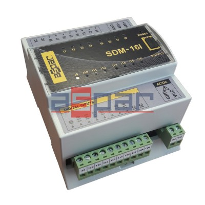 16 digital inputs, SDM-16I