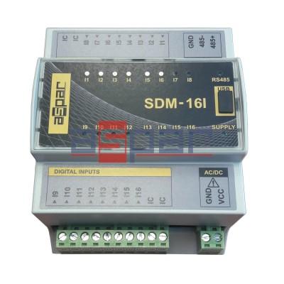 16 digital inputs, SDM-16I