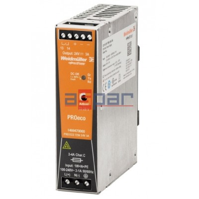 switch-mode power supply unit, 24 V, PROeco 72W 24VDC 3A