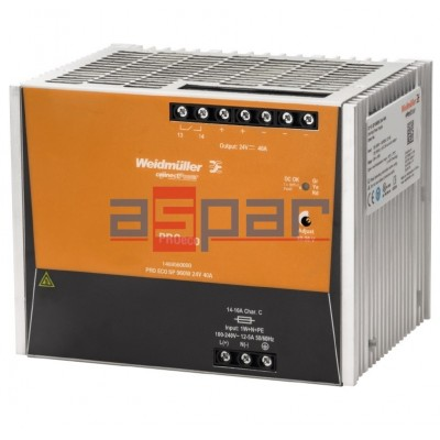 3 phase switch-mode power supply unit, 24 V, PROeco 960W 24VDC 40A
