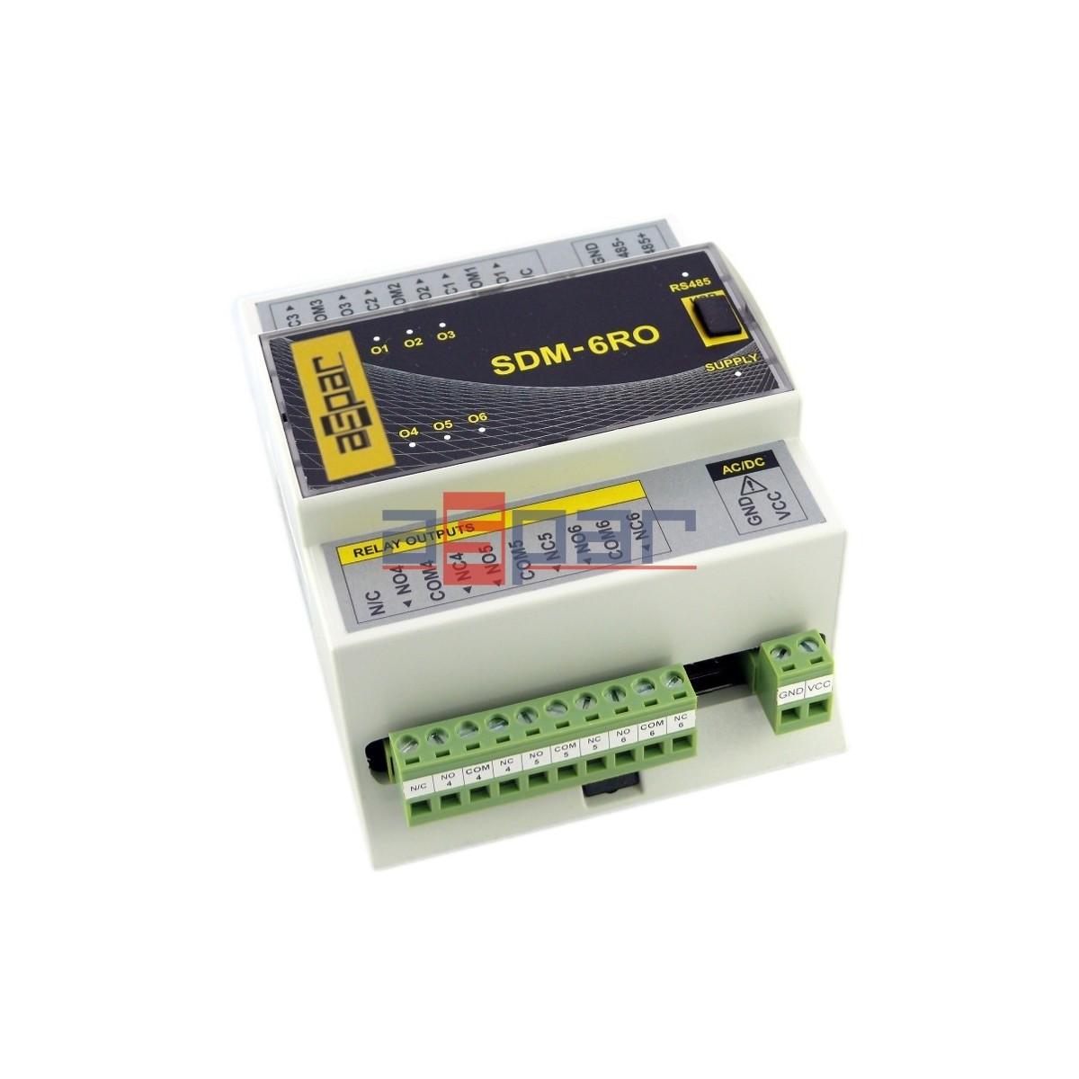 SDM-6RO - 6 wyjść przekaźnikowych