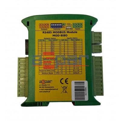 8 digital inputs, 8 digital outputs  MOD-8I8O