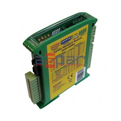 8 digital inputs, 8 relay outputs  MOD-8I8RO