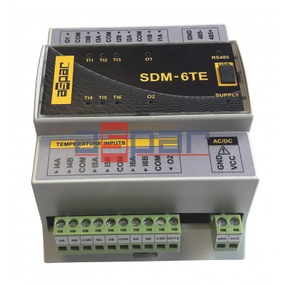 6 wej. temperaturowych, SDM-6TE
