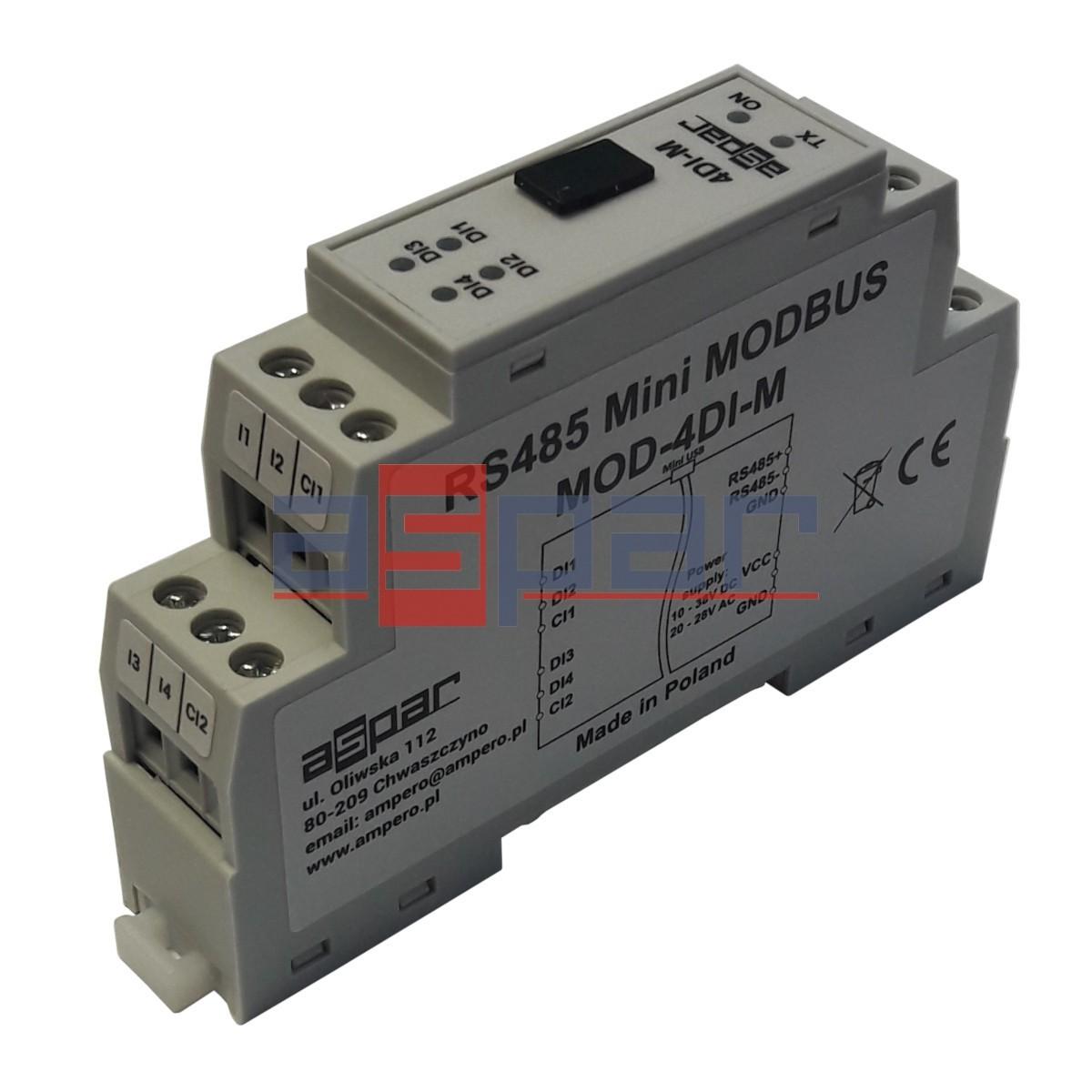 4 wej. cyfrowe z pamięcią, MOD-4DI-M