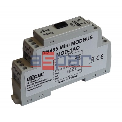 1 analog universal output  MOD-1AO