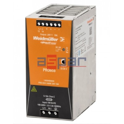 switch-mode power supply unit, 24 V, PROeco 240W 24VDC 10A