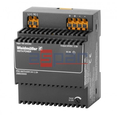 switch-mode power supply unit, 24 V, PRO INSTA 60W 24V 2.5A